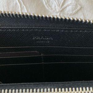 Prada Accessories - Large saffiano Prada wallet